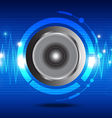 digital sound wave from speaker vector image vector image