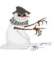 Dreadful Jack Frost vector image vector image