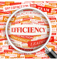 EFFICIENCY vector image