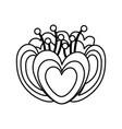elegant flower decorative icon vector image vector image