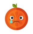 emoji - tears crying orange isolated vector image vector image
