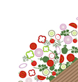 Empty plate with vegetables vector image vector image
