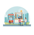 food and drink stands vector image