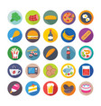 food flat icons 2 vector image vector image