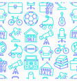 garage sale seamless pattern vector image