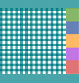 gingham seamless pattern set vector image