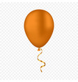 gold balloon on a transparent background vector image vector image