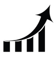 Graph business vector image vector image