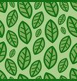 green leaves at background pattern vector image vector image