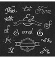 Handwritten catchwords and ampersands vector image vector image