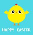 happy easter chicken bird cute cartoon funny vector image vector image