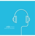 Headphones with a wire vector image vector image