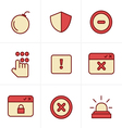 Icons Style Security icons vector image vector image