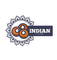 indian cuisine promotional emblem with traditional vector image vector image