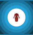 isolated dress flat icon clothes element vector image
