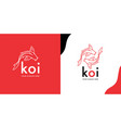 koi fish logo template vector image