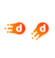 letter d logo abstract liquid bubble drop vector image