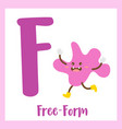 letter f vocabulary free-form shape