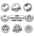 logo collection set with hobtheme vector image vector image