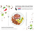 luxembourg cuisine european national dish vector image vector image