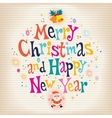 Merry Christmas and Happy New Year aged paper vector image vector image