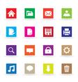 Multicolor web icons vector image vector image