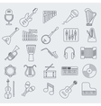 Musical instrument line icon vector image