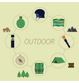 Outdoor infographics Camping lifestyle Unusual vector image vector image