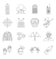 Paintball icons set outline style vector image vector image