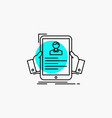 Resume employee hiring hr profile line icon