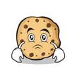 sad sweet cookies character cartoon vector image vector image