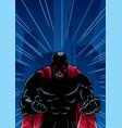 screaming superhero background silhouette vector image vector image