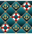 Seamless lifebuoy pattern vector image vector image