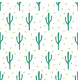 seamless simple pattern cactuses vector image vector image