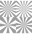 set of sunburst backgrounds radial rays vector image