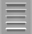 shop product blank shelves isolated on vector image vector image