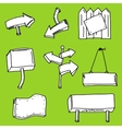 sketches of plates and arrows vector image vector image