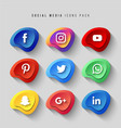 social-icons vector image