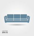 sofa flat icon vector image vector image