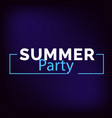 summer party square frame blue background i vector image vector image