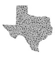 texas map of triangles vector image