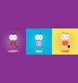 three little pigs serious cheerful and surprised vector image