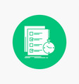 todo task list check time white glyph icon in vector image
