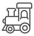 train toy line icon baby toy vector image