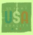 usa retro poster army quality shabby grunge vector image vector image