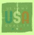 USA retro poster usa army quality shabby grunge vector image