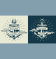 vintage monochrome marine emblem template vector image