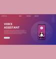 voice assistant human voice recognition vector image