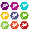 without tap pipe icons set 9 vector image vector image