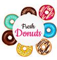 sweet donut advertising banner vector image